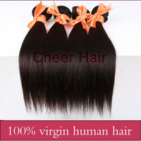 Wholesale Cheap A Brazilian Virgin Hair Extension Unprocessed Human Hair Straight Natural Color can dye no shedding