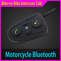 Wholesale Motorcycle Helmet Bluetooth Intercom BT m Helmets Headset Wireless Interphone casque moto Motocycle Communicator