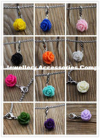 Wholesale 50pcs new resin mixed colours flower dangle for Glass Living Memory Locket