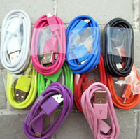 For Samsung   Colourful USB Data Line Sync Charger Cable Adapter Cables 1M 3FT Samsung S3 S4 S5 NOTE 2 free shipping
