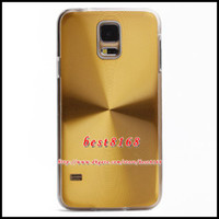 Wholesale CD Grain Bling Chrome Aluminum Electroplate Metal Alloy Hard Plastic Case For Samsung GALAXY S5 SV I9600 Shiny Back Skin cover cases