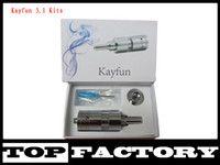 Replaceable 4.5ml Metal New Kayfun Kit 3.1 kit Kayfun Atomizer E Cigarette Clearomizer Control Bottom For E Cig Mod Like Hammer King Maraxus Nemesis Tesla Vmax