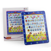 venda por atacado children laptop-Novo Design Crianças Ipad computador portátil brinquedos máquina de aprendizagem para crianças mesa de fazenda Máquina engraçado Frete grátis