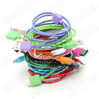 1m 3ft   Fabric Braided Charger Cable for Samsung Galaxy Note 3 N9000 N9006 N9008 Micro USB 3.0 Nylon Data Sync Charging Cord