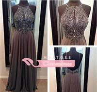 Reference Images best beautiful pictures - Best Selling Beautiful Exquisite Beaded Pearls Backless Chiffon Prom Dresses Party Formal Dresses Shil04