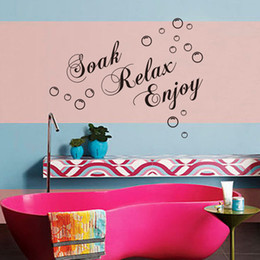 Wholesale soak relax enjoy Bubbles Bathroom Wall Stickers DIY Home Decoration