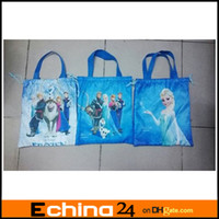 Wholesale Frozen kids Cartoon Drawstring Backpack School Bags tote bags Mixed Designs Non woven Fabric