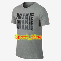 Soccer Men Short 2014-2015 World Cup Netherlands Core Type T-Shirt High Quality Holland Soccer Jersey T Shirt Grey Cheap Sports Jerseys New Soccer Uniforms