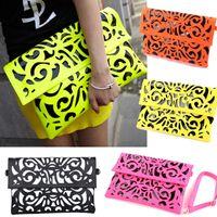 Wholesale S5Q Hot Hollow Womens Girls Messenger Envelope Clutch Purse Handbag Shoulder Bag AAADCH