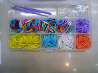 Link, Chain Asian & East Indian Unisex new 2014 loom bands Rainbow loom kit DIY rubber wrist bands braided bracelets Kids Christmas toys (300 bands +24 S clips +2 Hook +1 shell)