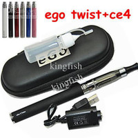 Single 650mah more than 300 times 650 900 1100mah ego ce4 Electronic Cigarette ego kit e cig e cigarette for ego with ego Twist variable voltage ego Battery,zipper case, usb