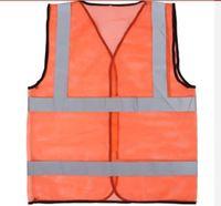 Wholesale Red reflective safety vest breathable fluorescent fabrics vest