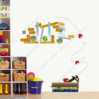 Wholesale BIRDS DIY Reusable Wall Stickers Kids Nursery Boys Children Room Decals TK1420