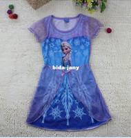 Wholesale Pre Order FROZEN Elsa princess girl girls short sleeve dress dresses nightgown sleepwear nightie