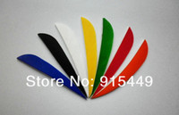 fletching - 100 pieces inch hunting arrows fletching turkey feathers arrows fletching dedicated solely colorful variety of colors