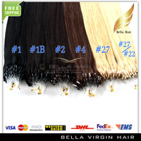 Wholesale Hot sale quot Loop Micro Ring Brazilian Hair Extensions g strand g set Silky Straight b Human Hair Extension