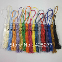 Wholesale mix color polyester Charm tassel for home decore curtain fitting bookmark curtains