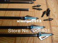 Wholesale Pieces Hunting Blue Trigonous Arrowhead For Archery Arrows