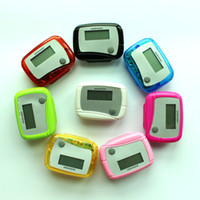 Wholesale Best New Pocket LCD Pedometer Mini Single Function Pedometer Step Counter LCD Run Step Pedometer Digital Walking Counter seven eleven
