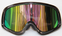 Wholesale In stock Ski Snowmobile Motorcycle Off Road Goggle Eyewear Black Frame Color Lens T815