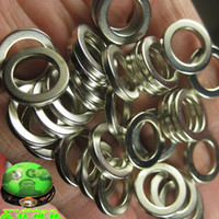 Wholesale Strong magnetic sintered NdFeB magnets powerful magnet ring silver white D15 D10