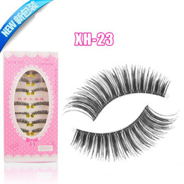 Wholesale 10 Pairs Xh23 False eyelash Handmade false eye lash extensions thick long cross fake eyelash set eye makeup cosmetics