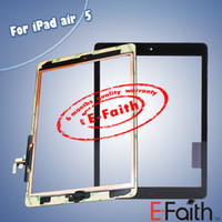 For Apple For Ipad Capacitance Free DHL Shipping For iPad Air Touch Screen Digitizer & home butoon & adhesive