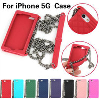 handbag silicone - New Luxury Lanyards Soft Chain Women Handbag Silicone Case for iPhone G S Piece