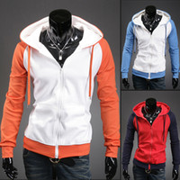 2014 spring and autumn hoodies , Couples all-match korean sweatshirt men cardigan leisure hooded 7 Colors Free shipping