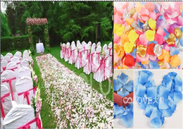 Wholesale 8 off OUTLETS Marriage Sahua Wedding simulation rose petals Marriage room layout hand woven throw petals DROP SHIPPING bags