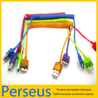 For Samsung   5 color Spring Coiled USB 3.0 date Cable Retractable Sync Date Charging Cord For Samsung Galaxy Note 3 N9006 New Arrival