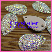 Quilt Accessories sewing accessories - MM All star Crystal AB sew on teardrop stones flat back resin sew on rhinestones