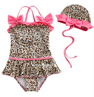 Wholesale Fashion New Girls piece leopardbaby baby bikini swimwear zebra print girls swimsuit swim pool coats swimsuits