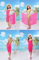 Wholesale free ship sexy women chiffon shawl swimwear V neck beach skirt bikini outer smock variety worn beach towel sexy dress wrap skirt cover ups