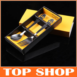 Wholesale Tableware Cutlery Smiley Stainless Steel Dinnerware Gift Set Fork and Spoon Set JJ1001