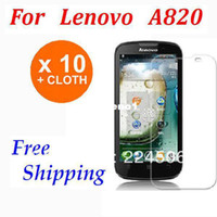 Mobile Phone No for lenovo lephone A820 820 10X Screen LCD Clear protector guard for lenovo lephone A820 820 Front free shipping Without Retail Package