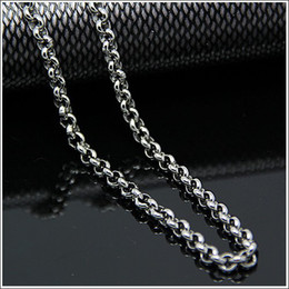 3.5mm 6mm Lot 5 Meters in bulk Jewelry Round ROLO Chain Finding Chain Stainless Steel , DIY Necklace Bracelet