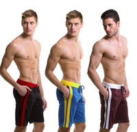 Wholesale Hot sale sexy Authentic Men s Sports Shorts Household Shorts gym shorts trunks Mesh fabric different colors