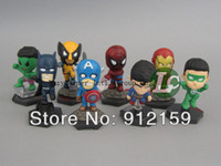 Wholesale Marvel Mini Pocket The Avengers Movie American spiders Action Figure for the children set sets