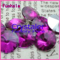 Bead Caps chinese crystal beads - 100pcs Fuchsia COLOR MM MM MM mm mm mm mm Chinese Top Quality Round Fancy Stone Crystal Rivoli Beads