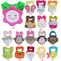 Wholesale 2014 new Towel Baby Bibs layer waterproof baby Feeding Animal Button bibs colors feedings ALH922H