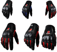 Wholesale SCOYCO mc09 Gloves Genuine Leather Motorcycle Racing Gloves Motorcycle Riding Gloves Motorbike Gloves Hole