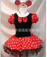 TuTu Summer Ball Gown New 2013 wholesale baby girls minnie mouse tutu dress with hairband children dot 2pcs clothing sets A106