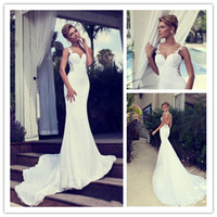 Nurit Hen 2014 Spaghetti Strap Backless Wedding Gown Beaded ...