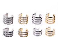 Band Rings brass knuckles rings - Multi Layers Rings Gold Silver Charm Women Decoration Rhinestone Ring Above Knuckle Mid Finger Rings NL022