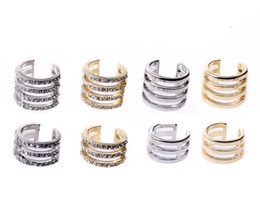 Multi Layers Rings Gold Silver Charm Women Decoration Rhinestone Ring Above Knuckle Mid Finger Rings NL022
