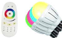 Wholesale 2 G RF Touch Remote W RGBW LED Bulb E27 E26 B22 Color Changing Dimmable LED RGB White Bulb Light Group Control Wireless Wifi Control DHL
