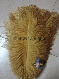 Free Shipping 12-14inch Gold Ostrich Feathers plume Wedding centerpiece feather Centerpieces decoraction Table centerpiece party event decor