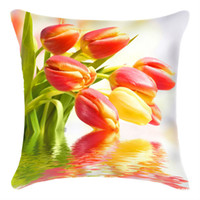 Wholesale 3D cross stitch pillow case The shore flowers cm embroidery kit decorative pillow innovative items home garden decrate