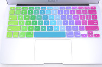 Wholesale freeship US Version Layout Colorful Silicone Soft Keyboard Cover Skin Sticker for quot quot quot quot inch Apple Macbook Air pro retina